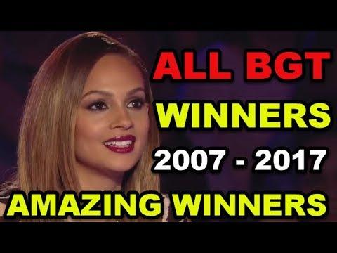 ALL WINNERS on BRITAIN'S GOT TALENT 2007 - 2017!