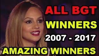 ALL WINNERS on BRITAIN'S GOT TALENT 2007 - 2017!