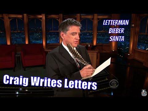 Craig Writes Letters - To Justin Bieber, David Letterman & Santa + More