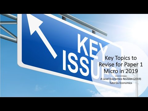 Key Topics to Revise for Paper 1 Micro in 2019 | Economics | tutor2u