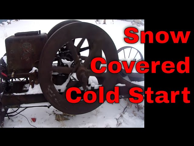 Rawleigh-Schryer 6Hp Hit and Miss engine COLD START