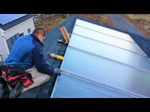 Mounting Solar Panels on Garage Roof (Hot Water)