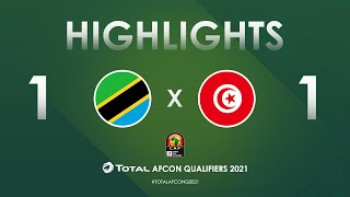 HIGHLIGHTS   Total AFCON Qualifiers 2021   Round 4 - Group J: Tanzania 1-1 Tunisia