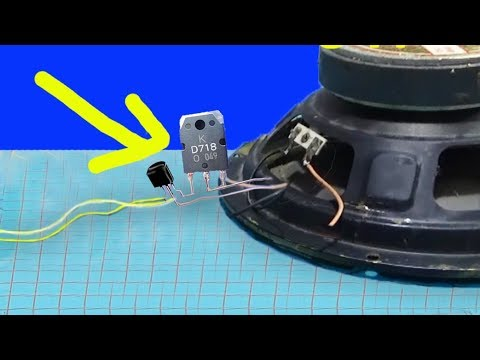 how to make a simple amplifier for speakers, Simple amplifier using 3 transistors