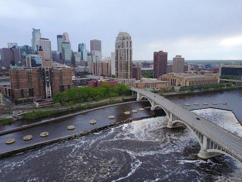 Downtown Minneapolis Minnesota-DJI Mavic Pro Drone-5/9/2017