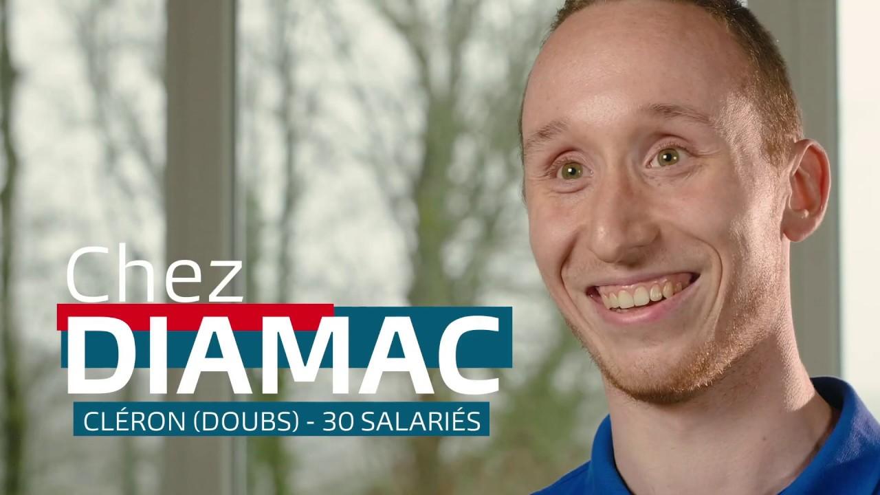Lien vers la vidéo : <p>Julien, régleur sur machine outils chez DIAMAC</p>