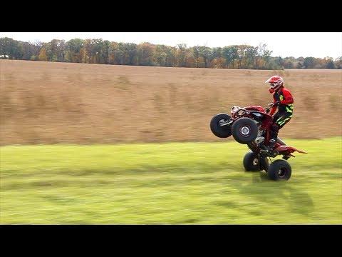 How To Wheelie A Sport Quad