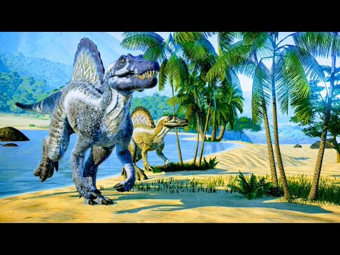 Spinosaurus & Herrerasaurus Hunting In Desert Environment - Jurassic World Evolution |
