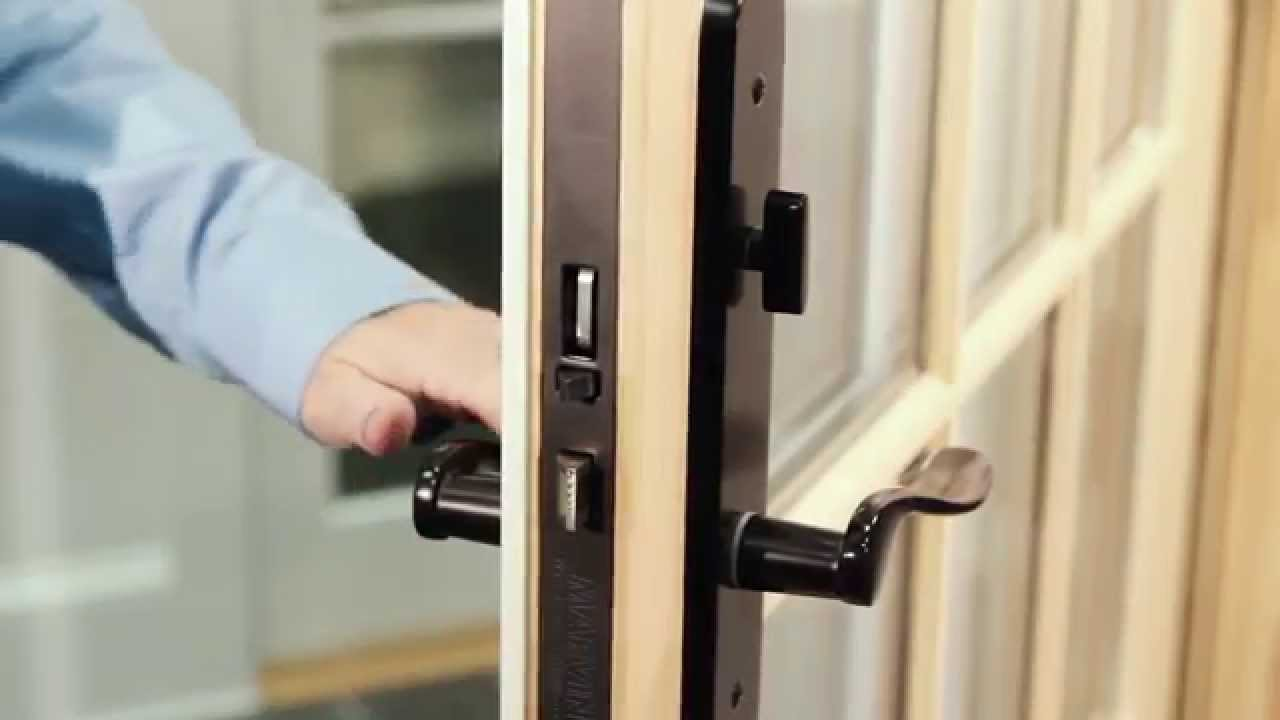Marvin french door how to operate the multipoint for Home hardware french doors