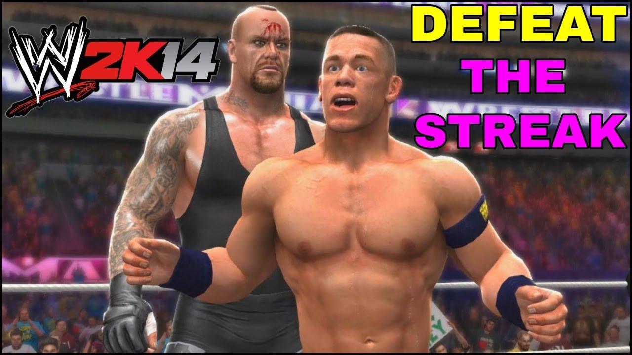 WWE 2K14 DEFEAT THE STREAK Gameplay - WWE 2K14 Gameplay END THE STREAK   