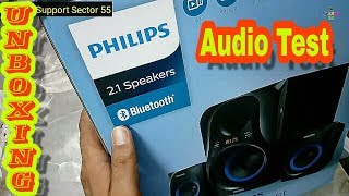 Philips 2.1 Bluetooth Audio system,MMS 2580b Unboxing and Audio Test