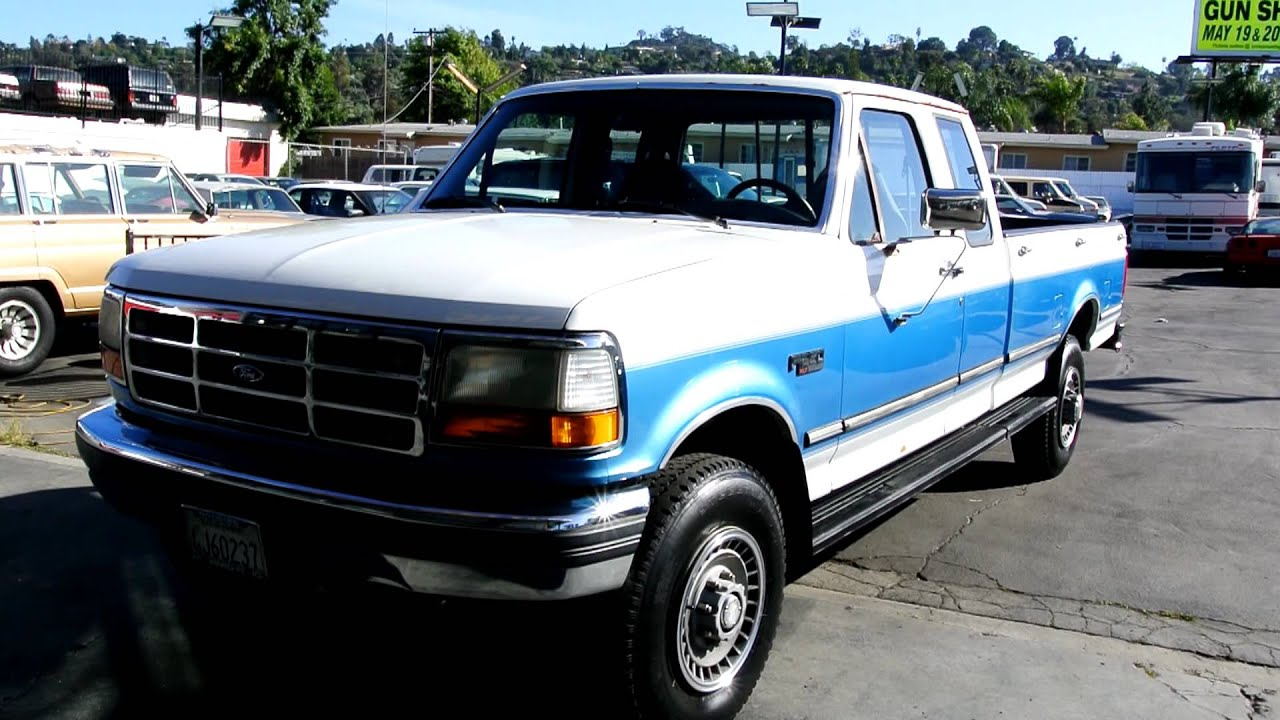 1992 ford f 250 xlt 1 owner 69k original miles f250 4x4 3 4 ton 1 ton pickup truck youtube. Black Bedroom Furniture Sets. Home Design Ideas