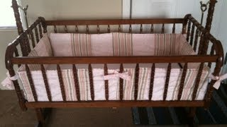 How To Custom Make A Bumper For A Crib Or Bassinet Step By Step!