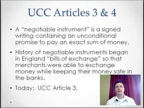 Ch 14-1 Negotiable Instruments