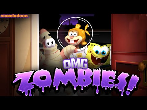 Nickelodeon Omg Zombies - Nick Spongebob Games - Night 1 Completed