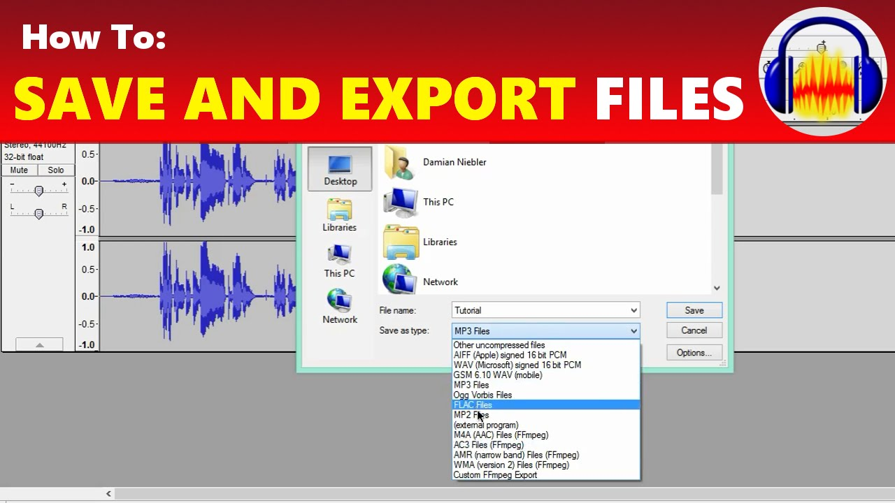 How To: Save and Export Files in Audacity