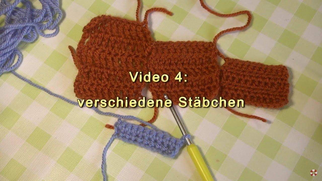 Häkeln Lernen Grundtechniken Video 4 Verschiedene Stäbchen Youtube