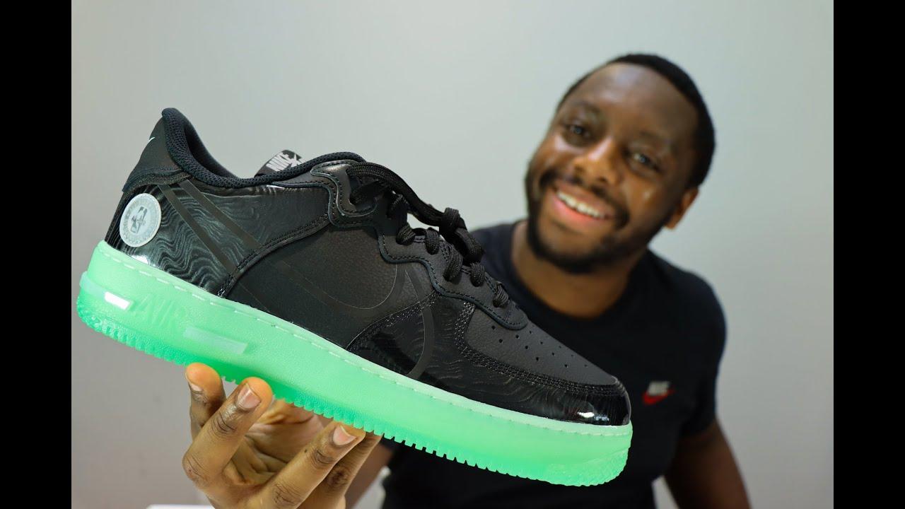 Nike Air Force 1 React LV8 All Star On Feet Sneaker Review QuickSchopes 152 - Schopes CV2218 001 4K