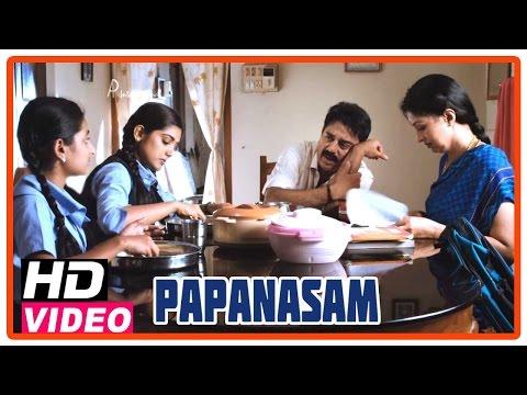 Papanasam Tamil Movie | Scenes | Kamal Haasan Allows Nivedha To Go For Nature Camp | Gautami