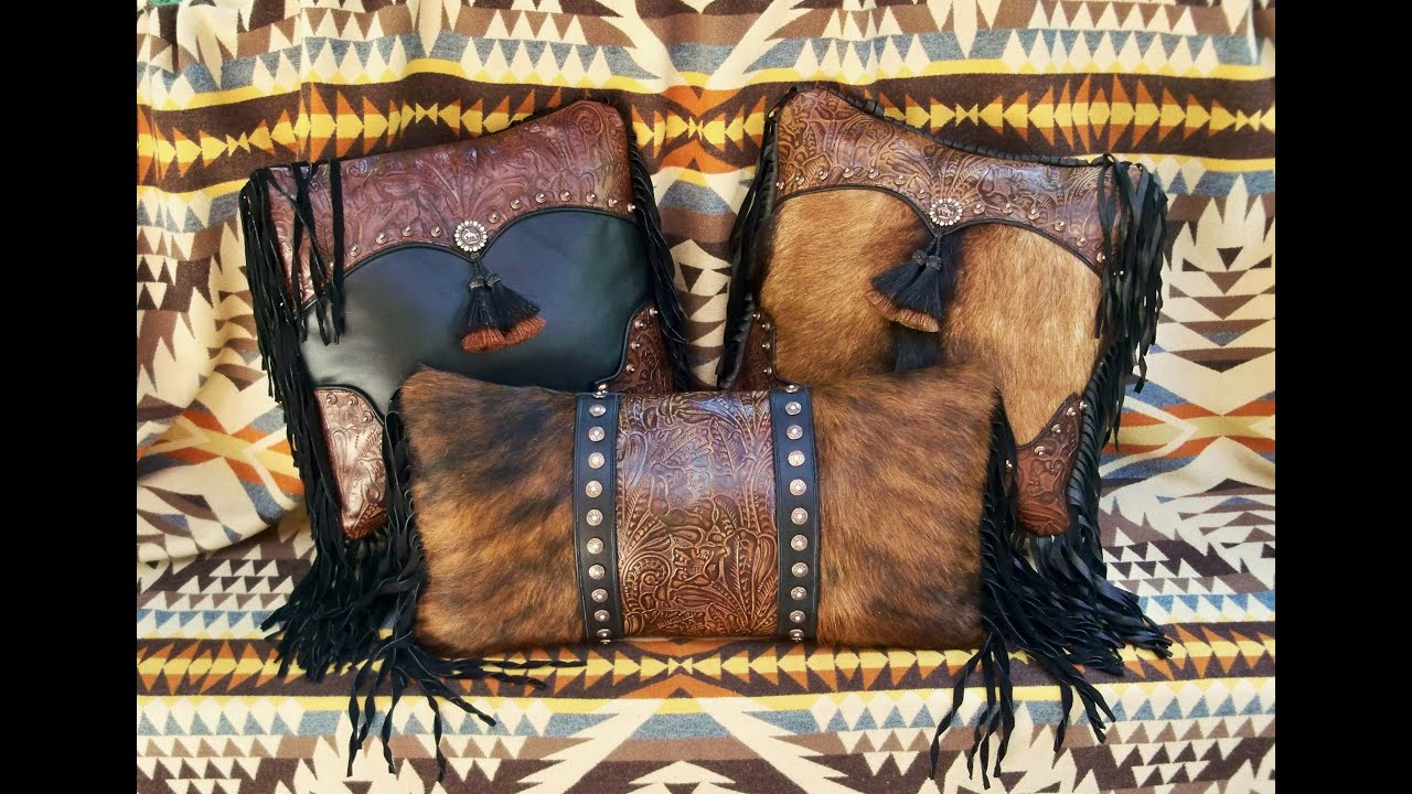 Brown Black Pillows With Hair On Cowhide Youtube