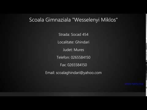 "Scoala Gimnaziala ""Wesselenyi Miklos"" Ghindari"