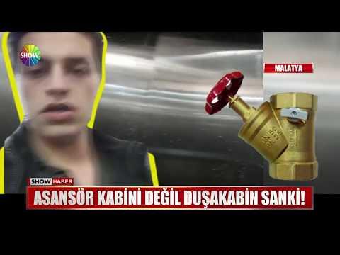 Asansör Kabini Değil Duşakabin Sanki!