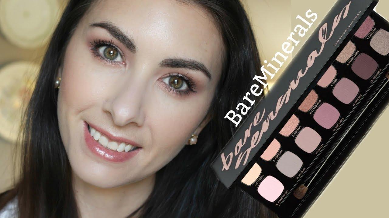 one brand makeup tutorial : bare minerals, bare sensuals palette