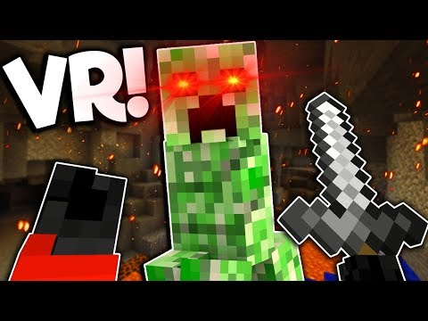 Creepers are more Creepy in Minecraft VR! – Minecraft Virtual Reality Gameplay