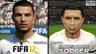 FIFA 17 vs Dream League Soccer - Real Madrid - COMPARACIÓN DE LA CARA