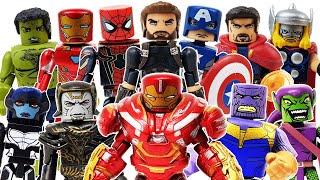 Marvel Avengers Minimates Go~! Hulk, Spider-Man, Iron Man, Thor, Captain America, Thanos