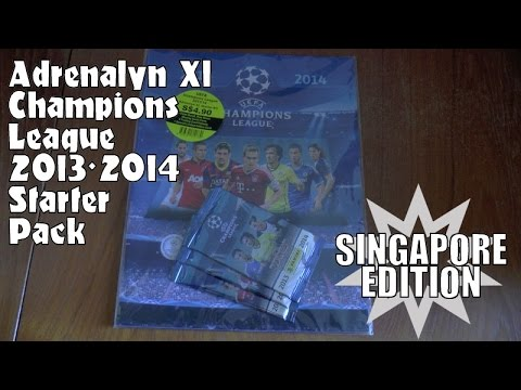 OLD SKOOL! ⚽️ SINGAPORE EDITION ⚽️ Panini Adrenalyn Champions League 2013/14 STARTER PACK ⚽️ OPENING