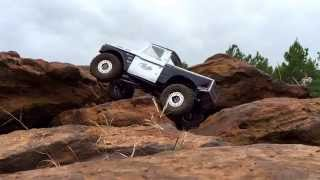 Axial Racing F100 Runner wet rock testing with the Falken Wildpeak M/T tires