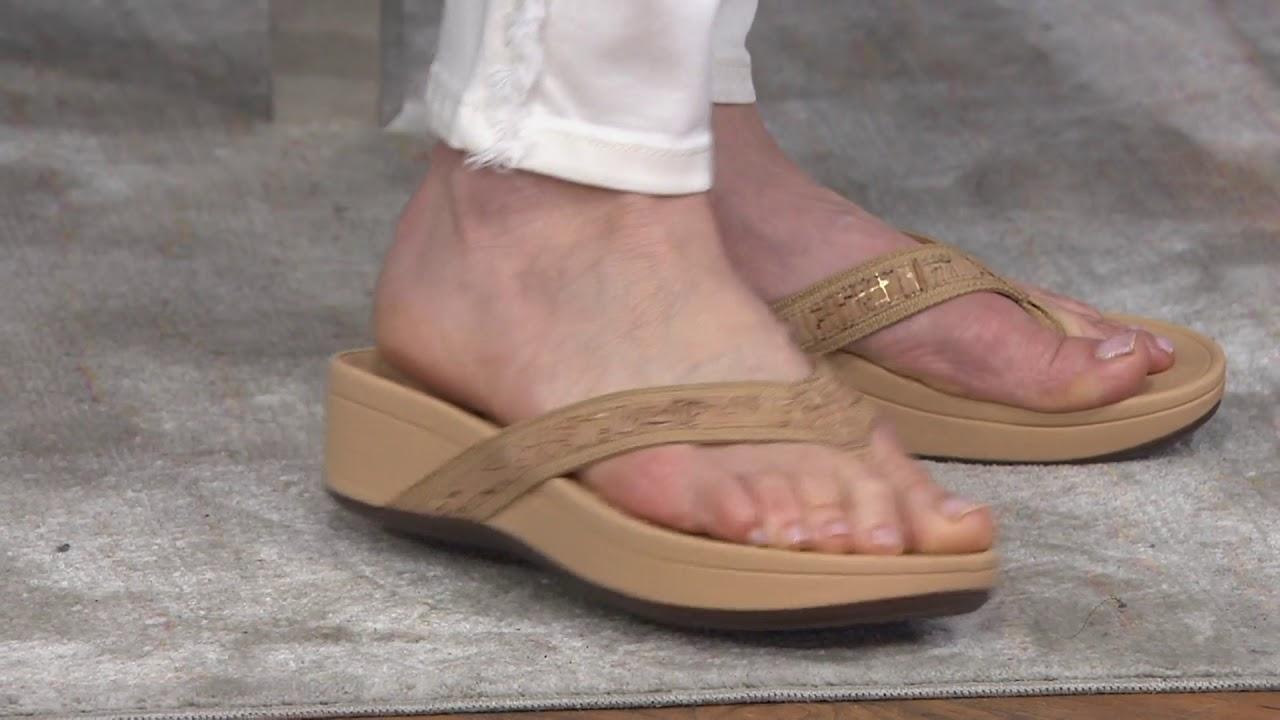 71e68078c76f Vionic Platform Leather Sandals - High Tide on QVC - YouTube