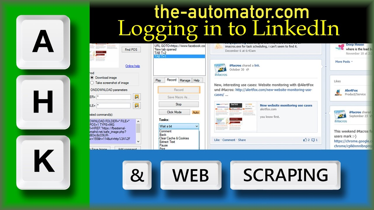click a page – Automating my world