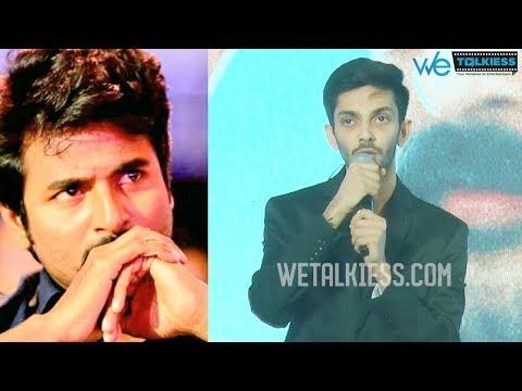 Anirudh Emotional Speech Working  With Sivakarthikeyan | Velaikkaran Audio Launch