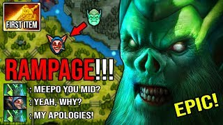 OMG 9MIN RAMPAGE 14MIN RADIANCE 100% Pure Cancer Solo MID Necrophos Ez Deleted Pro Meepo DotA 2