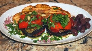 Средиземноморская закуска: овощи на гриле - Grilled vegetables Mediterranean  style