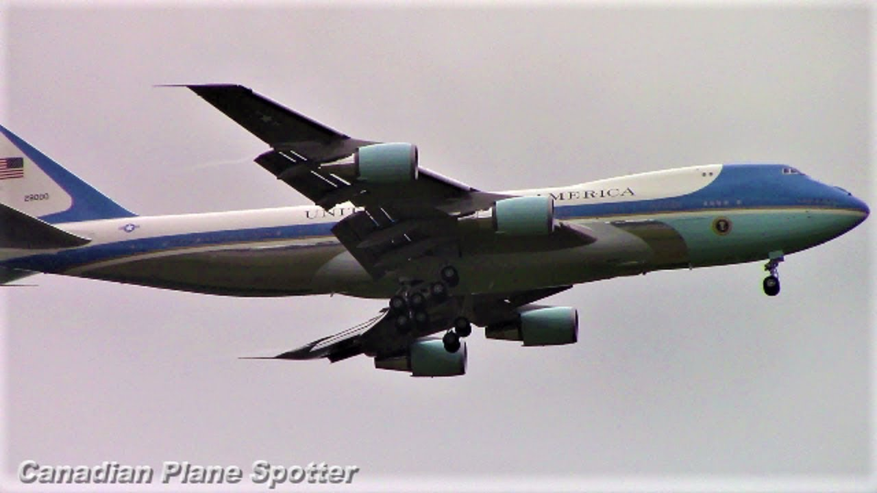Air Force One (747 200) and Mexican Air Force One (787 8) Departing Ottawa Int'l Airport