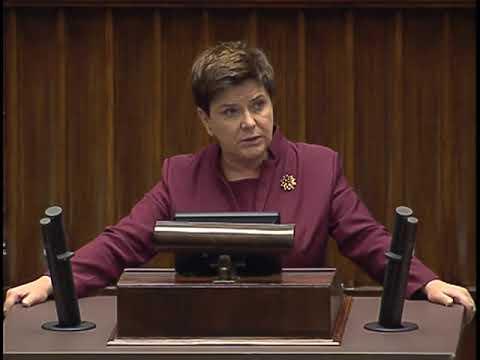 Beata Szydło - wystąpienie z 12 września 2017 r.
