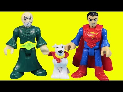 Imaginext Superman Tells Captain America Story Of How He Met Super dog Krypto At Ninja Base