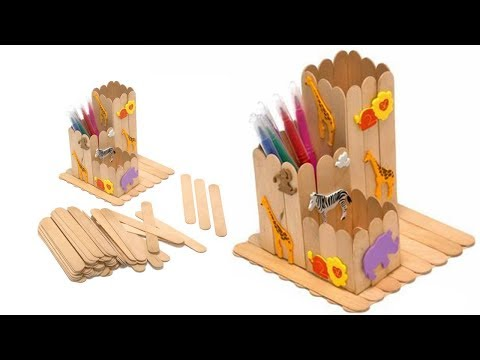 How to Make Pen Stand | DIY Pen Holder | Ice Cream Sticks Pencil Holder | Best out Of Waste Idea