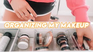 Organizing My Makeup! (satisfying lol)