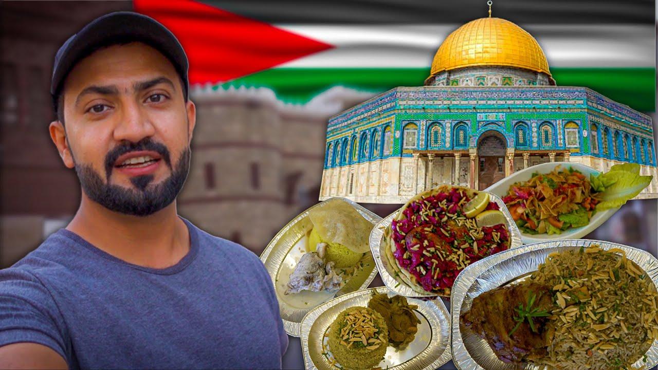 Local Palestinian FOOD Tour 🇵🇸 it was more than just food - Palestinian Street Food, mansaf musakhin
