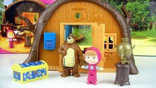 玩 瑪莎與熊 熊熊的家 樹屋 玩具開箱