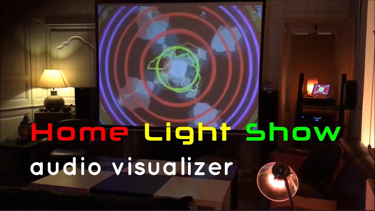 Home light show audio visualizer on the beat youtube
