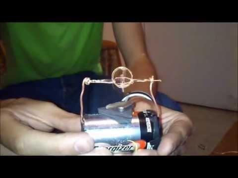 21b16b97b0c Motor casero de imán y pilas - YouTube