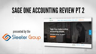 Sage One Accounting Software Review / Tutorial - Part 2
