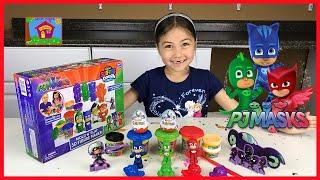 PJ面具Cra-Z-藝術Softee麵團&開放金德為孩子們驚喜的雞蛋玩具!null