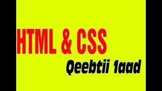 Html and Css Website Qeebtii 1aad Afsomali