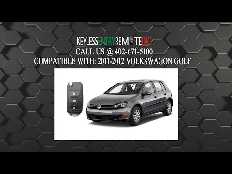 How To Replace Volkswagon Golf Key Fob Battery 2011 2012